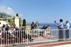 Civil ceremony at Positano town hall wedding terrace