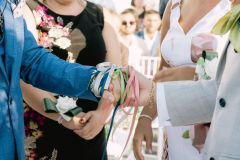 Handfasting: tying the colourful cords of love!  wp: Bella Sposa, ph: Francesco DeTito